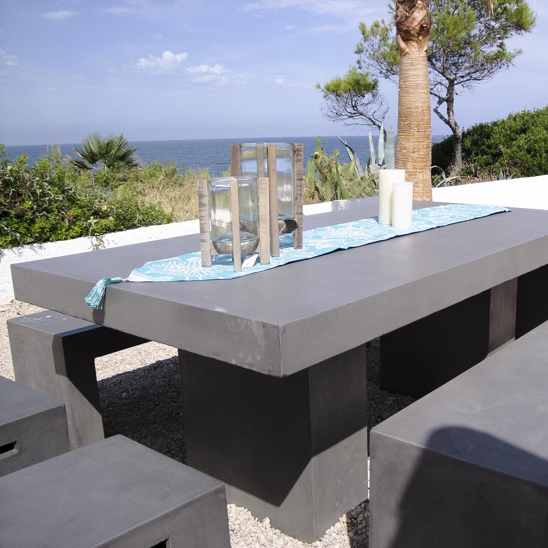 mobiliario en cemento